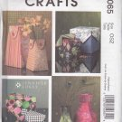 McCall's Crafts Sewing Pattern 5065 Jennifer Lokey Fabric Vases and Boxes Home Decoration