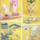 Simplicity Sewing Pattern 4362 Shirley Botsford Fabric Containers Vases Boxes Tray