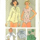 Simplicity Sewing Pattern 7681 Misses Size 10  Knit Bodysuit Leotard Dickies Detachable Cuffs