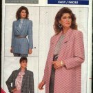Butterick Sewing Pattern 5759 Misses Size 6-10 Easy Loose Fitting Unlined Wrap Front Jacket