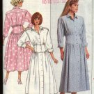 Retro Butterick Sewing Pattern 4686 Misses Size 6-10 Button Front Midriff Yoke Flared Dress