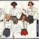 Butterick Sewing Pattern 4390 Misses Size 8-12 Easy Classic Button Front Blouses Sleeve Options