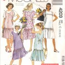 McCall's Sewing Pattern 4203 Misses Size 10-14 Easy Maternity Dropped Waistline Dress Jumper