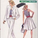 Vogue Sewing Pattern 7167 Misses Size 8-12 Easy Wardrobe Flared Skirt Pants Jacket Tank Top