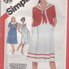 Simplicity Sewing Pattern 5944 Misses Size 10-14  Maternity Dress Unlined Short Jacket