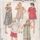 Simplicity Sewing Pattern 6857 Misses Size 14 Easy  Maternity Wardrobe Dress Top Shorts Pants