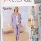 McCall's Sewing Pattern 3570 Misses Size 8-14 Easy Wardrobe Jacket Pants Shell Sash Top