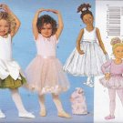 Butterick Sewing Pattern 5545 6660 Girls Size 2-5 Easy Dance Leotard Tutu Skirt Bag Pontail Holder