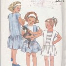 New Look Sewing Pattern 2031 Girls Size 2-7 Dropped Waist Cap Sleeve Summer Dress