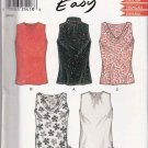 New Look Sewing Pattern 6145 Misses Size 8-18 Easy Sleeveless Top Neck Hemline Options