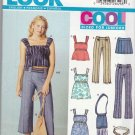 New Look Sewing Pattern 6264 Junior Size 3/4-13/14 Wardrobe Pants Top Dress Skirt Purse Belt