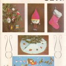 Kwik Sew Sewing Pattern 828 Christmas 1 Tree Ornaments Skirt Stockings Wallhanging