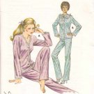 Kwik Sew Sewing Pattern 1132 Misses Size XS-S-M-L Tricot Pajamas Long Pants Button Front Top