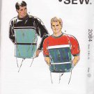 Kwik Sew Sewing Pattern 2084 Mens Chest Size 34-48  Pullover Knit Tops Sweatshirt Sleeve Options