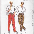 Kwik Sew Sewing Pattern 2001 Mens Waist Size 28-42  Pullon Casual Elastic Waist Pants