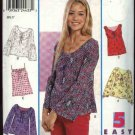 New Look Sewing Pattern 6045 Junior Size 3/4--13/14 Easy Peasant Style Tops Sleeve Options