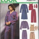 New Look Sewing Pattern 6293 Misses Size 6-24 Easy Pajamas Robe Slippers Pants Top Bed Jacket