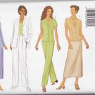 Butterick Sewing Pattern 6546 Misses Size 6-10 Easy Wardrobe Pants Straight Skirt Jacket