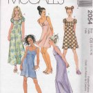McCall's Sewing Pattern 2054 Girls Size 12-16 Raised Waist Empire Summer Dress