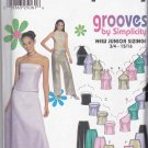 Simplicity Sewing Pattern 9775 Juniors&#39; Sizes 3/4-9/10 Formal Prom Skirt Pants Bodice Tops