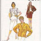 Kwik Sew Sewing Pattern 1426 Misses Size 6-12 Skirt Snap Front Jacket Vest