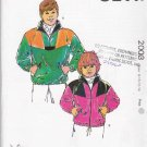 Kwik Sew Sewing Pattern 2003 Boys Girls' Size 8-14 Long Sleeve Zipper Front Pullover Jacket