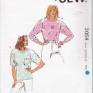 Kwik Sew Sewing Pattern 2054 Misses Size XS-XL Pullover Knit Tops T-shirts Long Short Sleeve