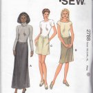 Kwik Sew Sewing Pattern 2788 Misses Size XS-XL (6-22)  Fitted Mini Knee Ankle Length Skirts