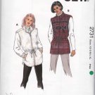 Kwik Sew Sewing Pattern 2731 Misses Size XS-XL (6-22) Zipper Front Lined Knit Fleece Vests