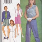 Butterick Sewing Pattern 3017 Misses Size 18-22 Easy Wardrobe Pants Shorts Vest Jacket Shirt