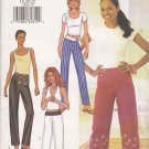 Butterick Sewing Pattern 3459 Misses Size 18-22 Easy Long Cropped Border Print Pants