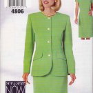 Butterick Sewing Pattern 4806 Misses Size 18-22 Easy Short Sleeve Straight Dress Jacket