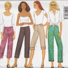 Butterick Sewing Pattern 6968 Misses Size 18-22 Easy Low Rise Straight Leg Pants Capri Cropped