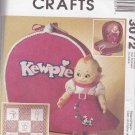 McCall's Sewing Pattern 3072 Kewpie Doll Clothes Embroidered Quilted Wall Hanging Carry Case