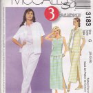 McCall's Sewing Pattern 3183 Misses Size 20-24 Wardrobe Pants Skirt Shirt Top