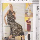 McCall's Sewing Pattern 3227 Misses Size 14-20 Straight Dress Sleeve Options Top Pants
