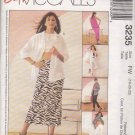 McCall's Sewing Pattern 3235 Misses Size 18-22 Easy Wardrobe Shirt-Jacket Halter Top Skirt Pants