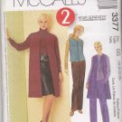McCall's Sewing Pattern 3377 Misses Size 18-24 Pants Skirt Short Zipper Front Vest