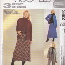 McCall's Sewing Pattern 3382 Misses Size 18-24 Woman's Day Collection Skirt Pants Jacket