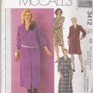 McCall's Sewing Pattern 3412 Womens Plus Size 18W-24W Long Sleeve Button Front Shirt-Dress