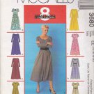 McCall's Sewing Pattern 3680 Misses Size 14-20 Easy Dresses Sleeve Neckline Options