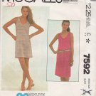 McCall's Sewing Pattern 7592 Misses Size 8 Easy Knit Pullover Sleeveless Summer Straight Dress