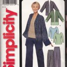 Simplicity Sewing Pattern 7049 Misses Size 8-18 Easy Pullover Knit Top Pants Jacket
