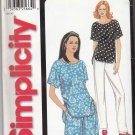 Simplicity Sewing Pattern 7147 Misses Size 6-24 Easy Pullover Short Sleeve Top Shorts Pants