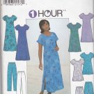 Simplicity Sewing Pattern 8136 Misses Size 12-16 Easy Pullover Short Sleeve Dress Top Pants Shorts