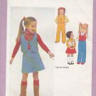 Simplicity Sewing Pattern 9090 Girls Size 6 Western Style Button Front Lined Vest A-Line Skirt Pants
