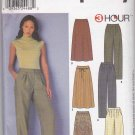 Simplicity Sewing Pattern 9479 Misses Size 16-22 Semi-fitted A-line Skirts Pleated Front Pants