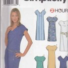 Simplicity Sewing Pattern 9692 Misses Size 16-24 Pullover Straight Dress Length Neckline Options