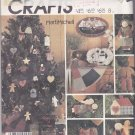 McCall's Sewing Pattern 2687 938 824 Folk Art Christmas Crafts Decorations Ornaments
