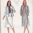 Butterick Sewing Pattern 3013 Misses Size 8 Classic Suit Long Sleeve Jacket A-Line 4 Gore Skirt